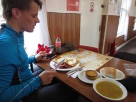 De lunch in Crianlarich