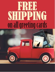 free shipping on all greeting cards