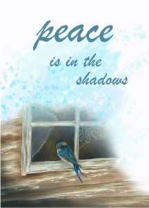 peace shadows love everywhere card front