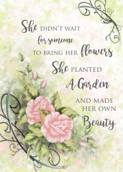 garden mother's day card roses