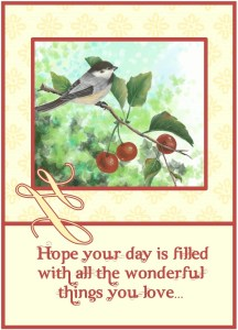card front birthday cherry