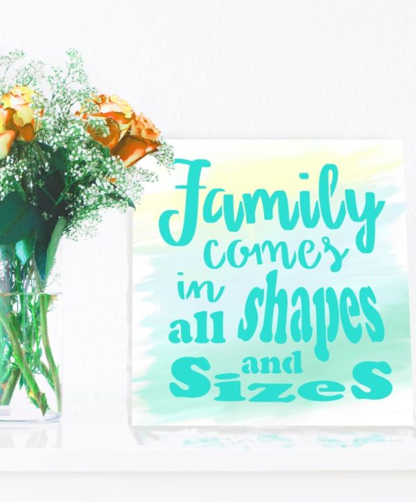 family quote teal canvas feature image
