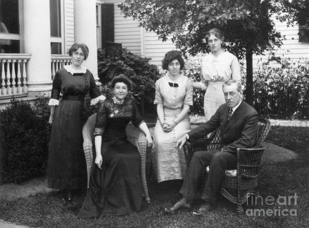 presidential family wilson, wife, daughters