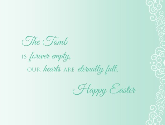He is Risen easter card inside
