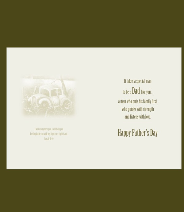 Vintage Ship Father's Day Card 2017 inside image