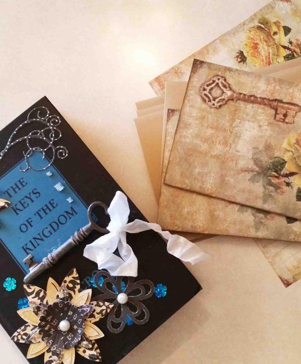 repurposed book box stationery album