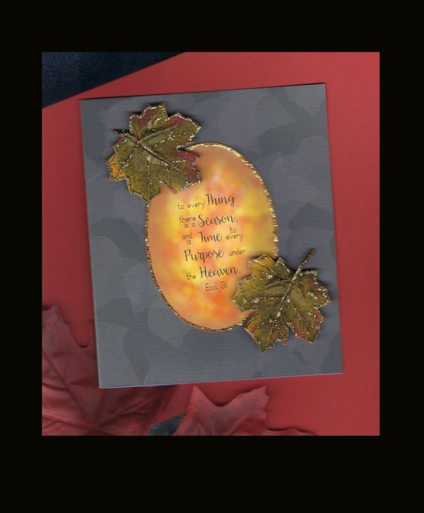Fall Season Time Purpose card on black background