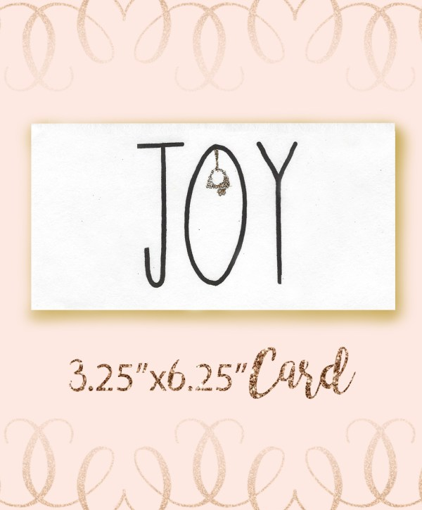 Joy Angel Font Christmas Card bundle
