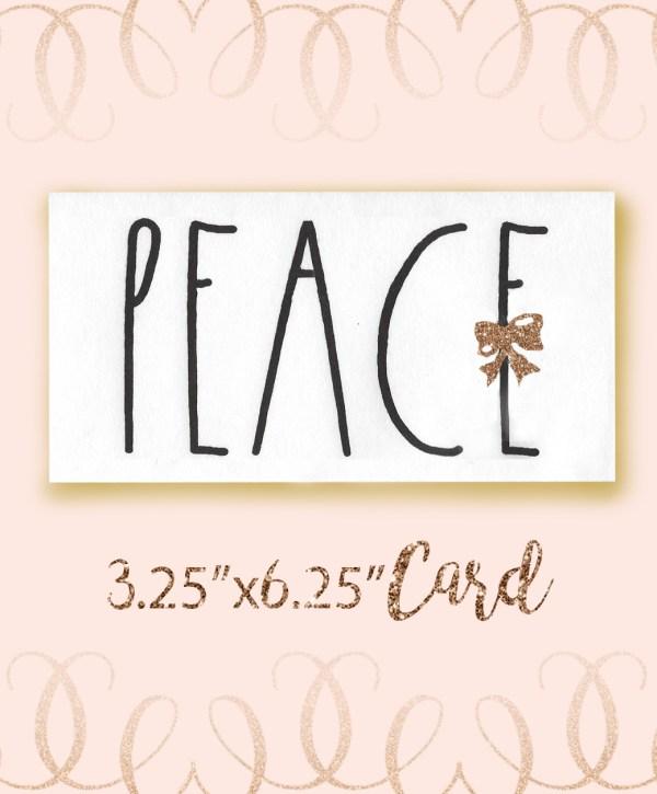 Peace Angel Font Christmas Card bundle