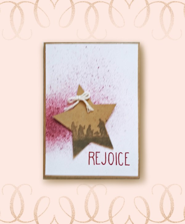 Rejoice Christmas Card Front Image