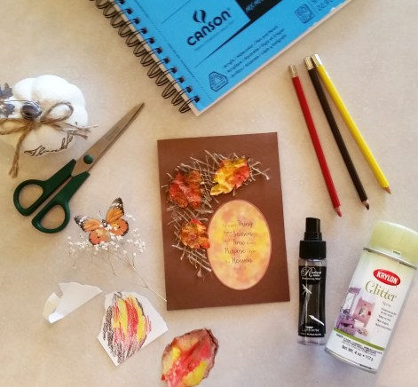 Supplies to make fall leaves