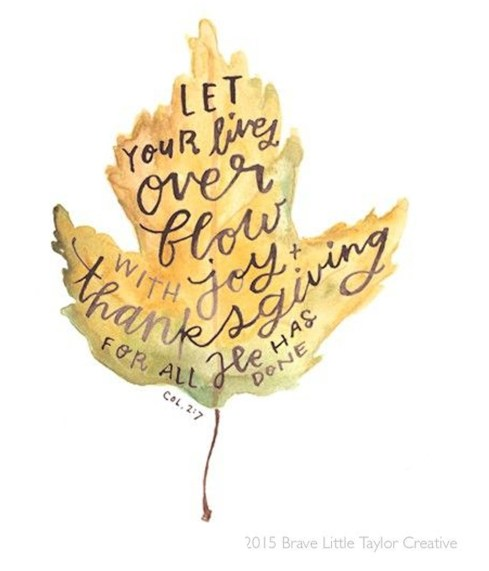 Happy Fall scripture leaf painting
