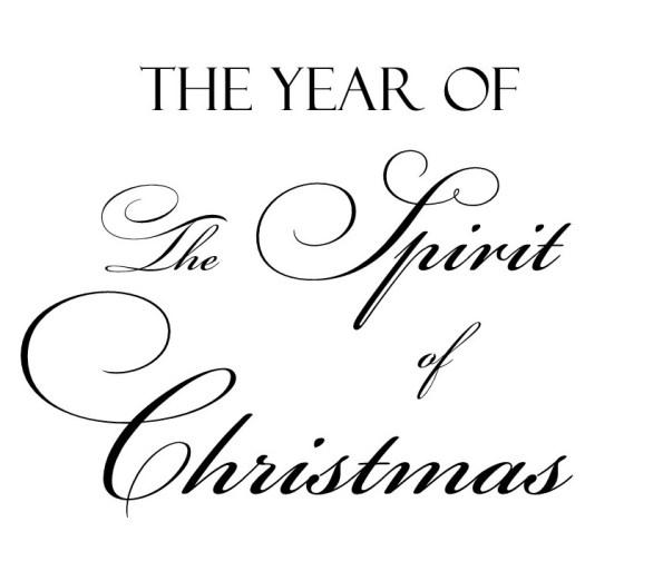 the spirit of christmas typography