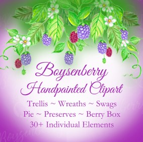 Boysenberry-Clipart-Etsy link berries pie leaves etc