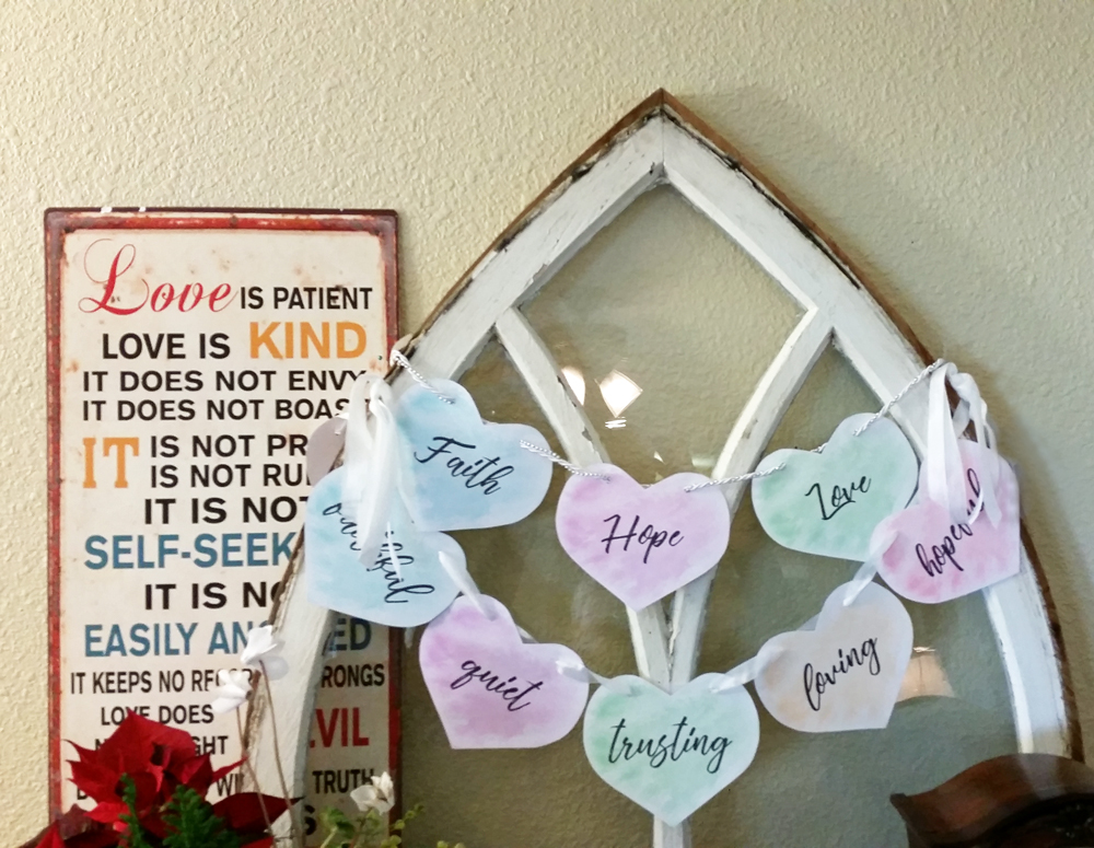 Love Is Patient, Loyal, Kind... A DIY Banner to Download