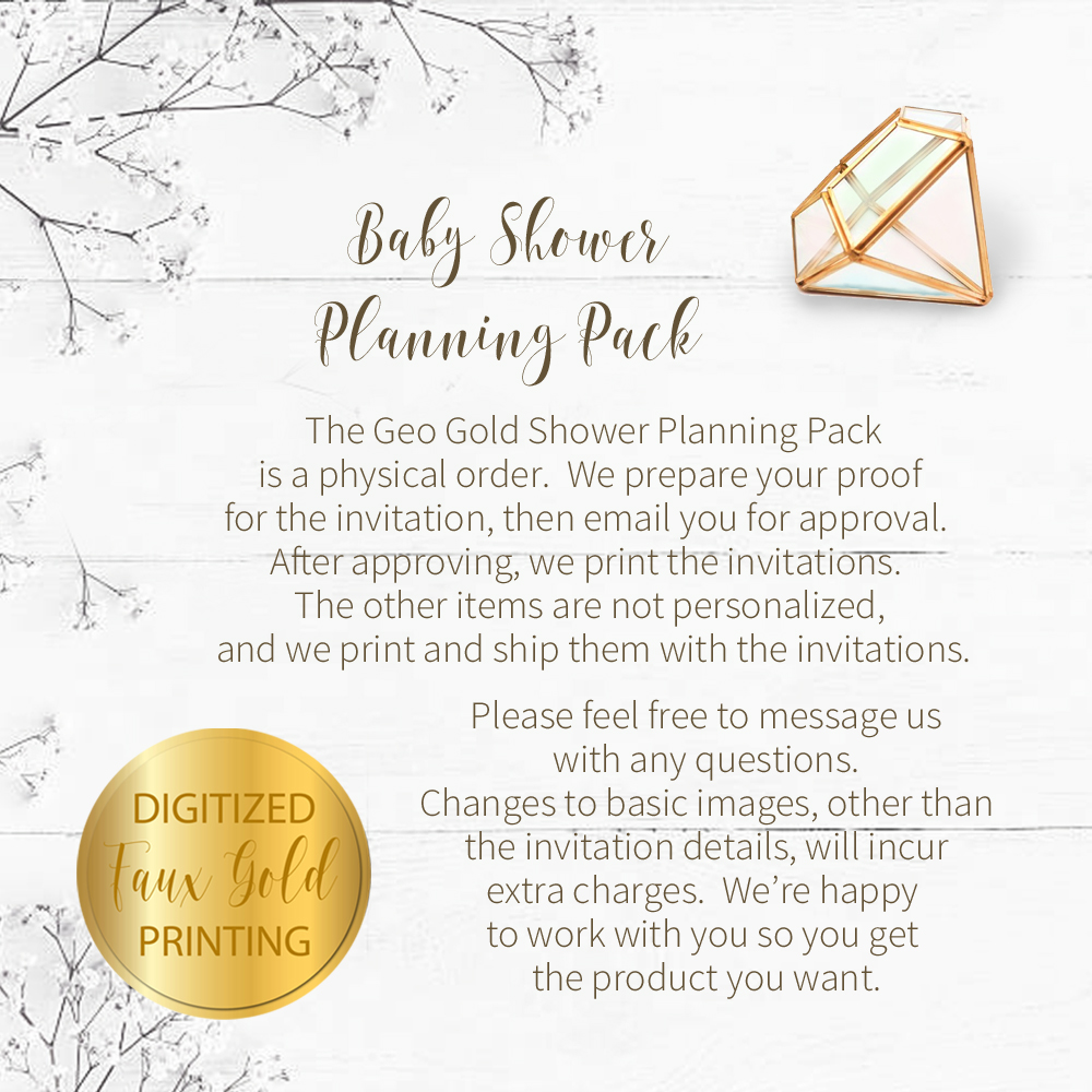 Geo Gold Baby Shower Planning Package