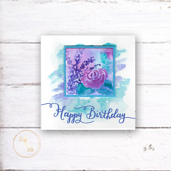 A watercolor floral birthday card diy that anyone can make kim ink watercolor floral birthday card kimenink m4hsunfo