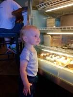 Hudson stare at cupcakes