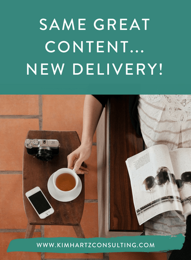 Same great content… New Delivery!
