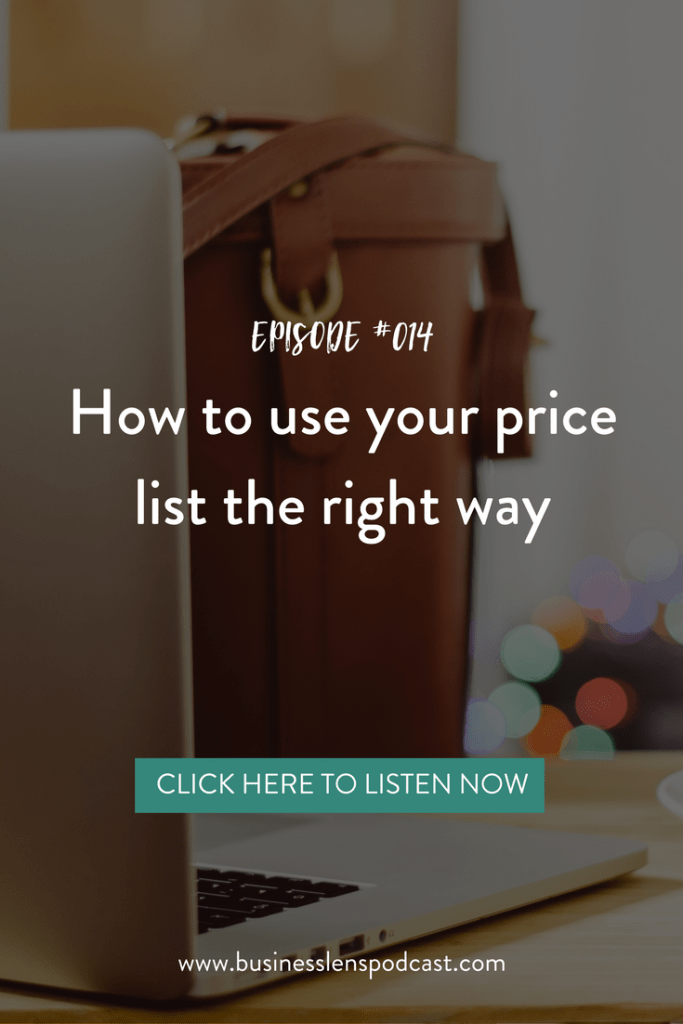 Episode #014: The right way to use a price list