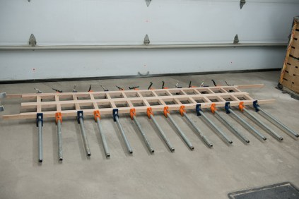 Glue up of library posts
