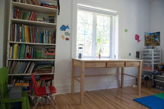 Finished desk installed