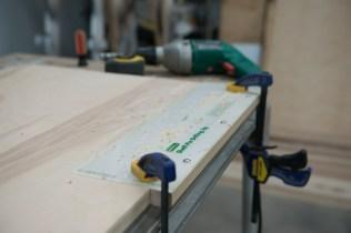 Plywood shelving hole drilling