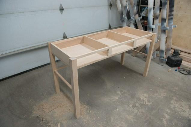 Desk glued-up