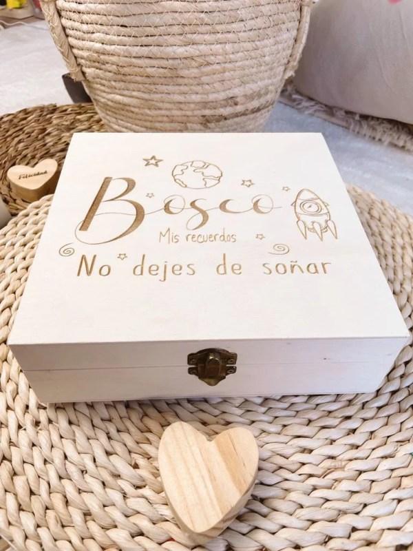 caja de recuerdos de madera regalos