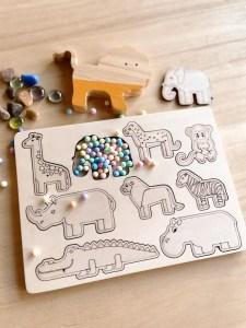 puzzle de madera animales dinosaurios sistema solar