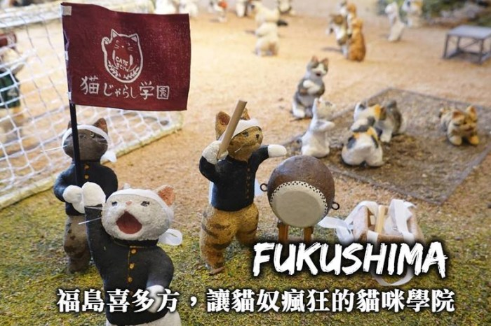 福島-喜多方木之本漆器店、桐之粉人形館,讓愛貓一族瘋狂的貓咪學院!