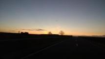 Mooie zonsopgang onderweg