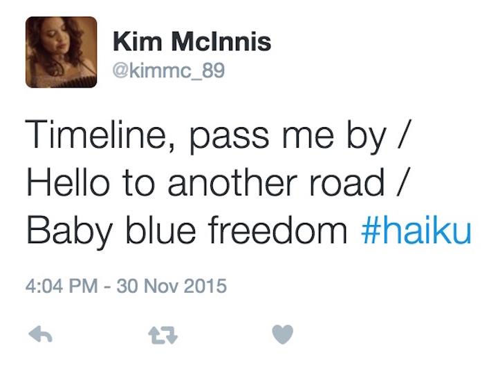 Another Road twitter haiku