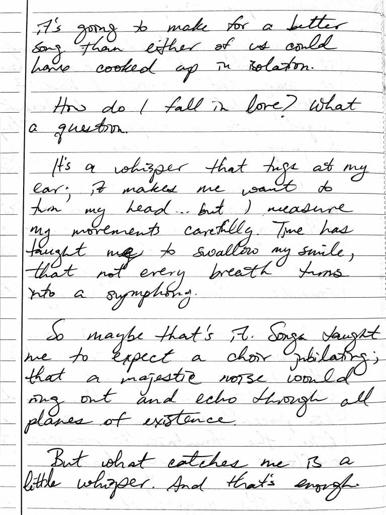How I Fall in Love diary