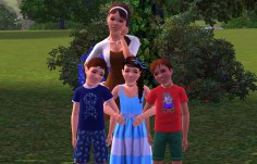 Eva Wyler with her siblings James and Sarah and cousin Daniel Lloyd
