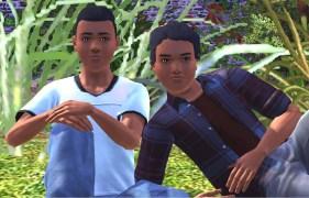 Lucas and Jasper Adams in their teen years