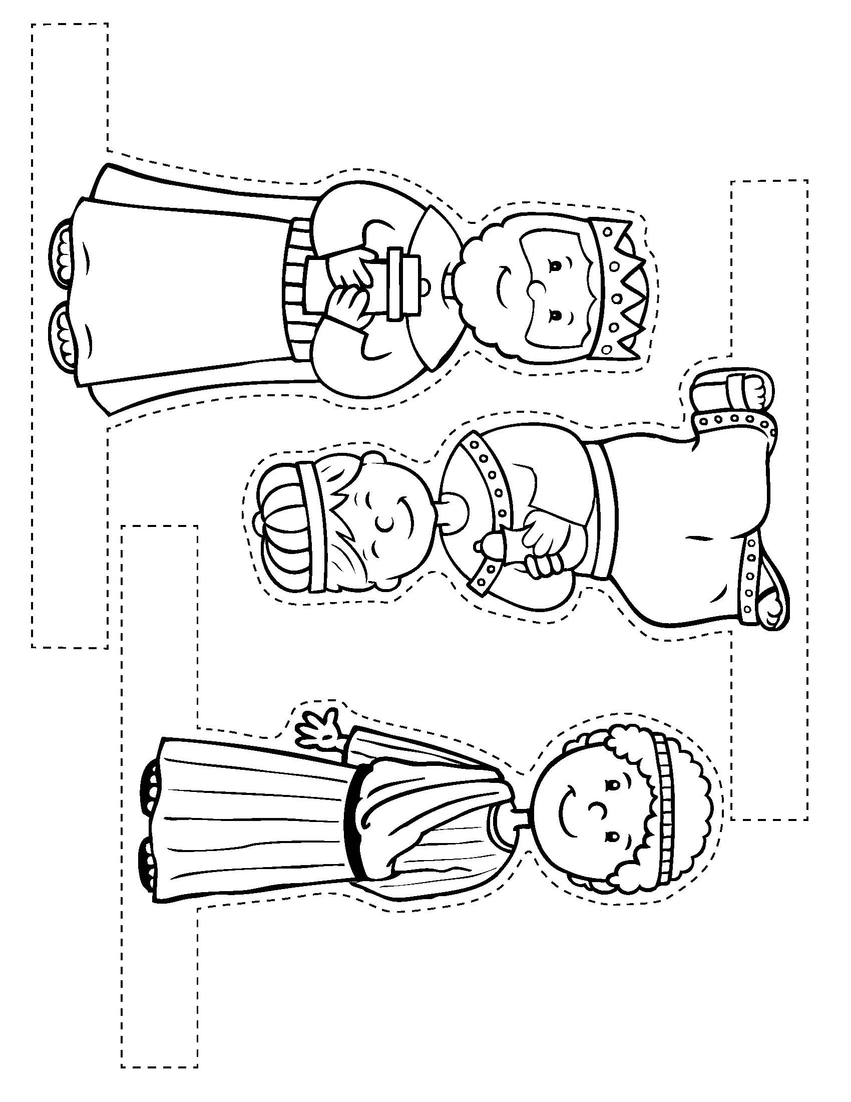 Search Results For Nativity Scene Cutouts Printables