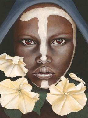 Moonflower portrait painitng