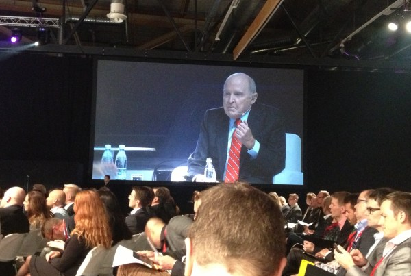 Jack Welch at Nordic Business Forum