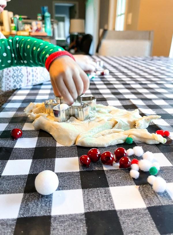 DIY Homemade Holiday Playdough for Kids