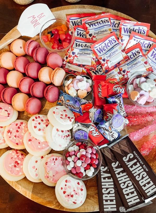 Valentine's Day Charcuterie Snack Board