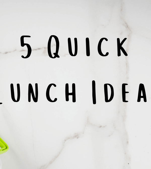 5 Quick Lunch Ideas