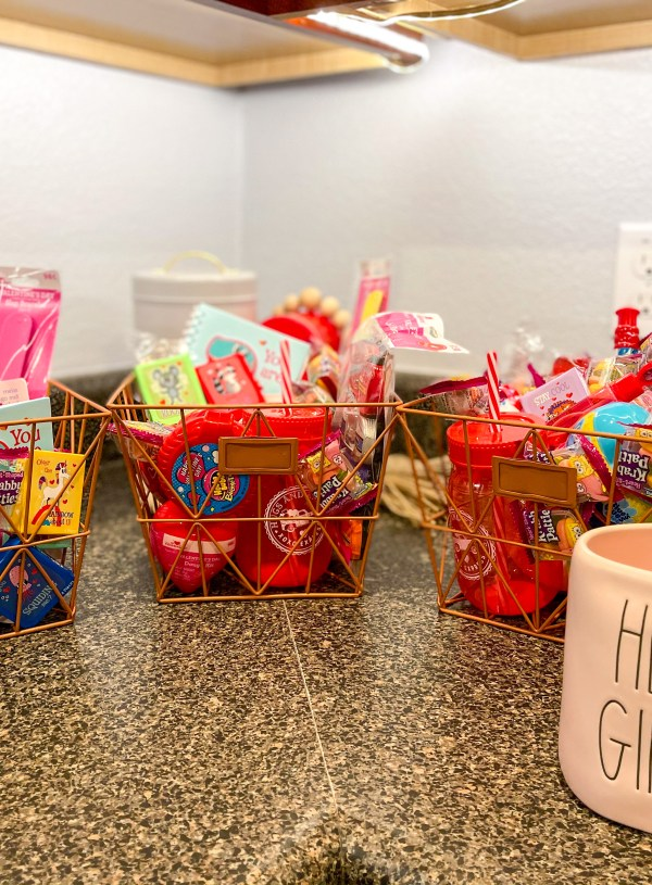 At Home Valentine's Day Baskets