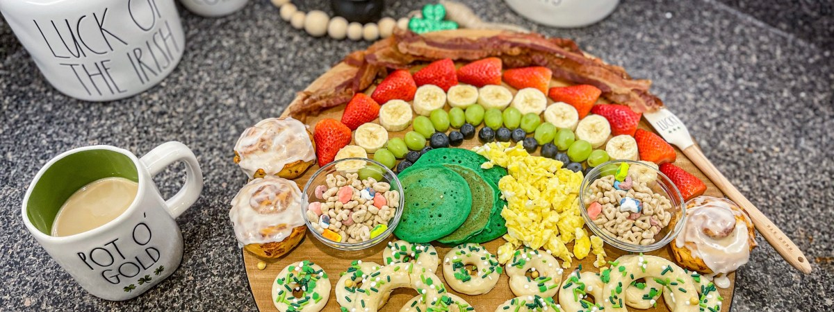 Lucky Leprechaun Breakfast Charcuterie Board