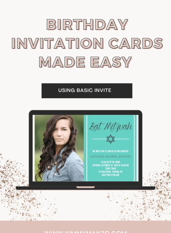 Birthday Invitation Cards Made Easy with Basic Invite