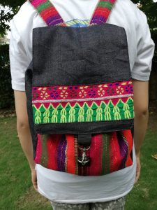 Hand Woven Back Pack with Traditional Embroidery.