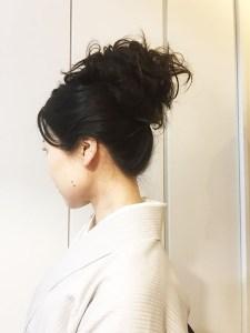 着物の髪型ロープウィッグ1