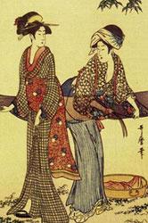 喜多川歌麿「二美人洗い張り