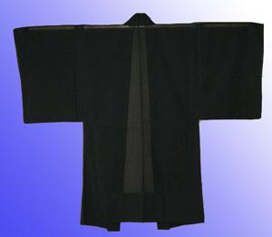 男物絽黒羽織