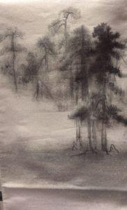 とみや帯 馬場洋次郎作 等伯 松林図屏風の袋帯の画像